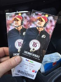 FedEx Field Cincinnati Bengals tickets Leesburg, 20176