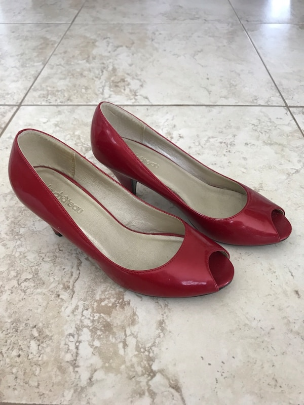 Red heel shoes size 8.5