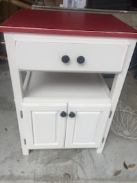 Small Kitchen Island. Painted with chalk paint, distressed & waxed.  Woodbine, 31569