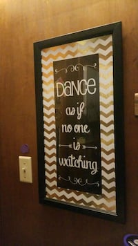 Dance as if no one is watching hanging frame Racine, 53402