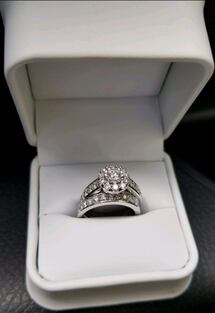 10k silver engagement ring