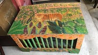 Vintage hand painted toy chest Santa Barbara, 93103