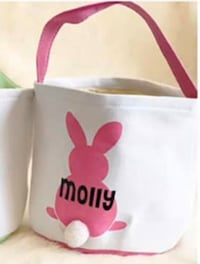 Personalized canvas Easter baskets 23 x 23 cm  Toronto, M3M