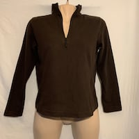 Brown Fleece half-zip - XS Vancouver