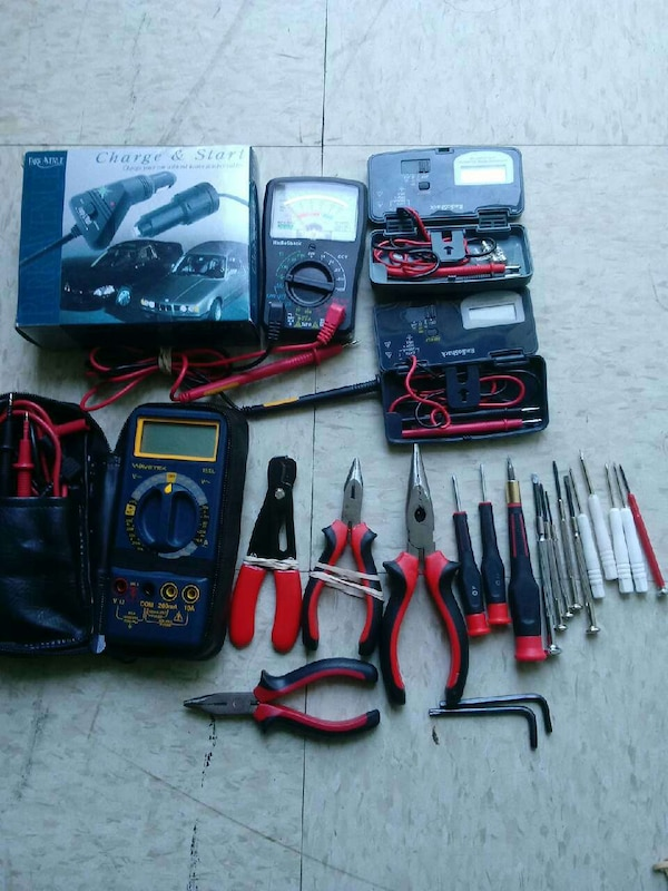 assorted hand tool lot