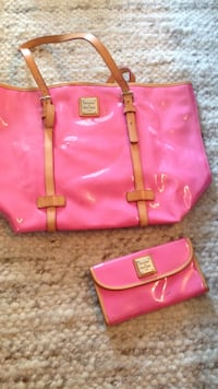 Pink Dooney and Bourke purse and wallet set Brookhaven, 30319