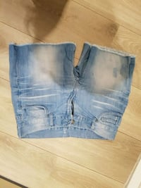 distressed blå denim korte shorts Arendal, 4846