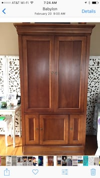 Solid Wood Music & TV Armoire/Cabinet Babylon, 11702
