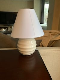 Small white modern lamp  Richmond County