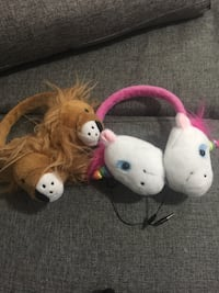 lion and unicorn themed headphones