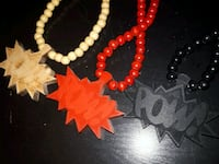""" POW""  Good Wood beaded necklace Vancouver, V5X 1P6"