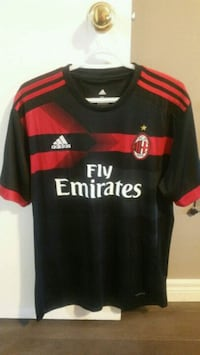 black and red AC Milan Adidas jersey Kitchener, N2C 1K7