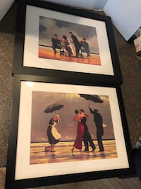 "Set of 2 Jack Vettriano Framed Pictures 18""x22"" and 19""x23"" $20 for both Manassas, 20112"