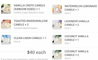 Charmed Aroma Candles. New Vaughan, L0J