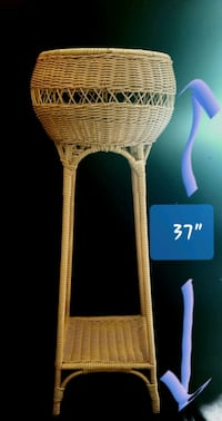 1/12 Vintage Wicker Two-Tiered Round Plant Stands Fern Flower Basket Des Moines, 50313