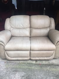 White leather 2-seat recliner sofa Helena, 35080