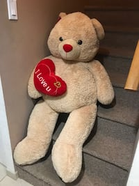 Brown and red bear plush toy Waterbury, 06708