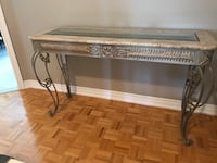 Table. Glass marble and cast iron  Vaughan, L6A 2H1