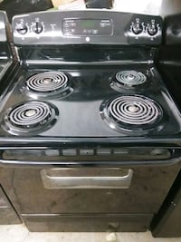 black and gray 4-coil range oven 50 km