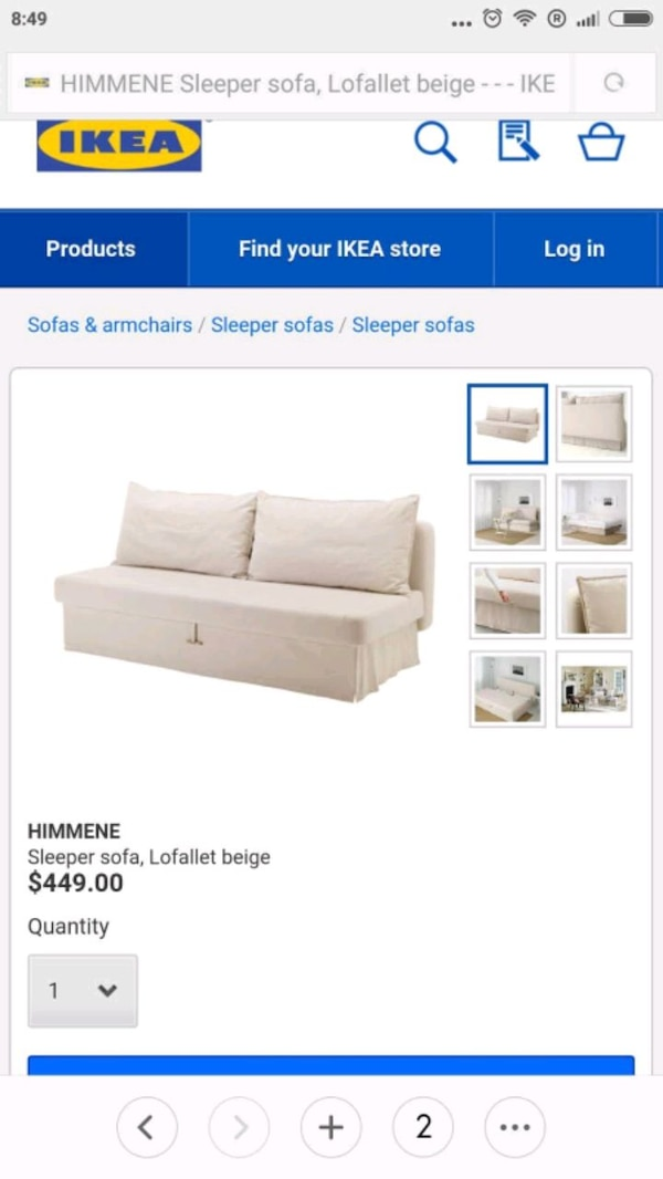 Groovy Sofa Bed 3 Seats Himmene By Ikea Bralicious Painted Fabric Chair Ideas Braliciousco