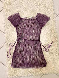 Purple laced beach cover up