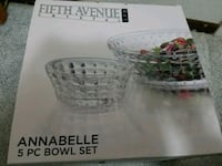 5 pieces crystal bowls set
