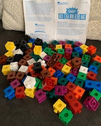 Learning Resources Kids Toy Snap Blocks Building Cubes 103 pieces