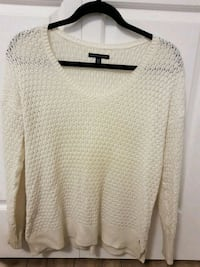 white knitted scoop-neck sweater Vancouver, V5N 4B9