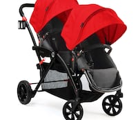 1 year old. Used couple times. Mint condition. Retails 499$ asking 300 obo tandem contours double stroller