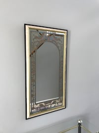 rectangular brown wooden framed mirror Winnipeg, R3P 0X1