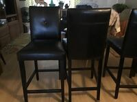 4 leather bar pub chairs