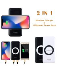 Wireless Charger Power Bank 12000mAh Portable Charger Wireless Power Bank 2 in 1 Battery Pack for iPhone 8 8 Plus iPhone X Samsung Galaxy S8 S8+ Note 8 S7 S6 Note 5,etc. (Black-Wireless) Piscataway, 08854