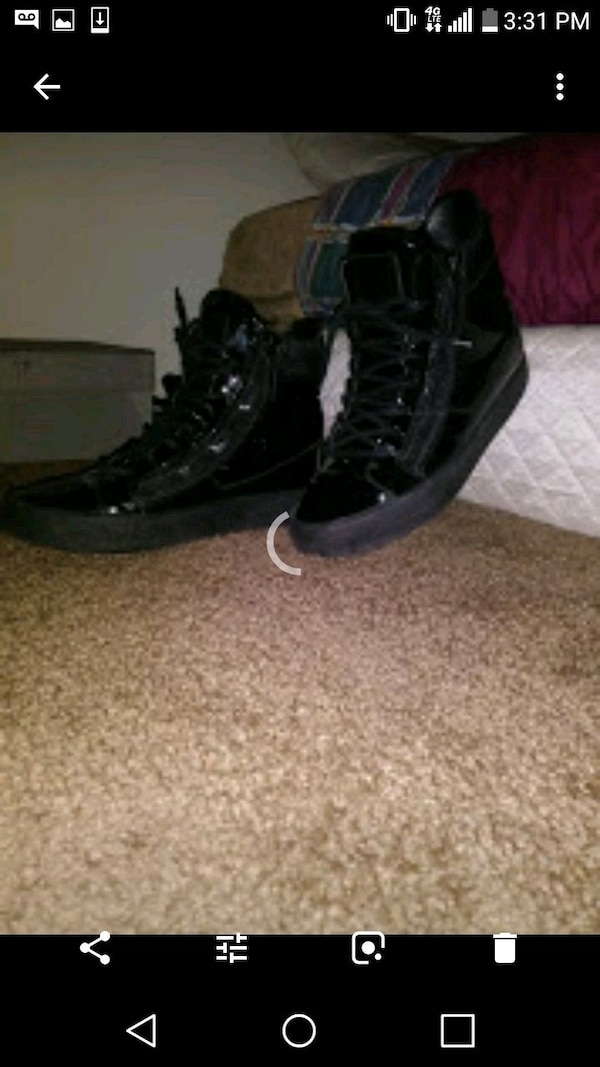 a70743658ce Used pair of black leather high-top sneakers for sale in Washington - letgo
