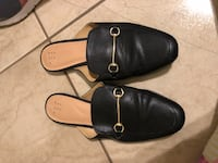 pair of black leather slide sandals McAllen, 78504