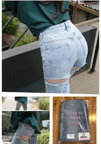 Blue denim jeans collage photo Calgary, T3A