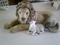 Lion and lamb statue Knife River, 55609