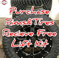 Buy rims and tires get free lift kit!!