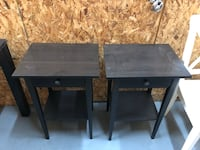 Two black wooden side tables Arlington, 22201