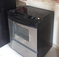 Black  and stainless steel Kitchen Aid electric range oven. Great for a handy-person. Brampton, L6X