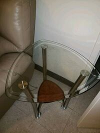 GLASS TOP LIVING ROOM LAMP TABLES