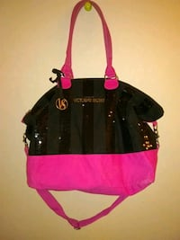black and pink leather tote bag Colorado Springs, 80909