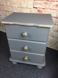 Two grey bedside tables chest of drawers  Watford, WD19 6NA