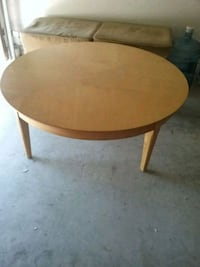 round brown wooden coffee table Irvine, 92606