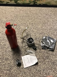 Msr dragonfly stove and tank used a handful of times great for backpacking Edmonton, T5R 2C5