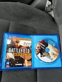 Battlefield Hardline PS4 game disc with case