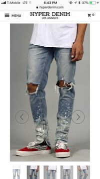 Ripped Skinny Jeans Size 30 35 km