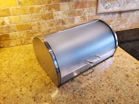 Bread box, stainless steel & semi-opaque cover. Mississauga, L4Y 2L1