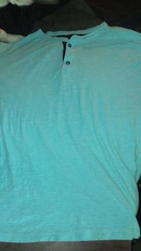 women's teal v-neck shirt