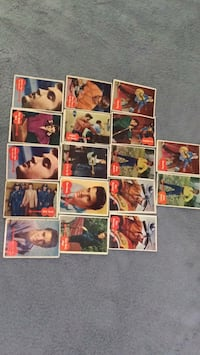 Elvis collectible trading cards from 1956 (17 total) good condition.