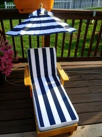 white and blue stripe lounge chair Front Royal, 22630